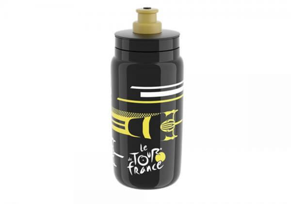 Elite® Fly Tour de France 2018 Trinkflasche schwarz (0,55l).