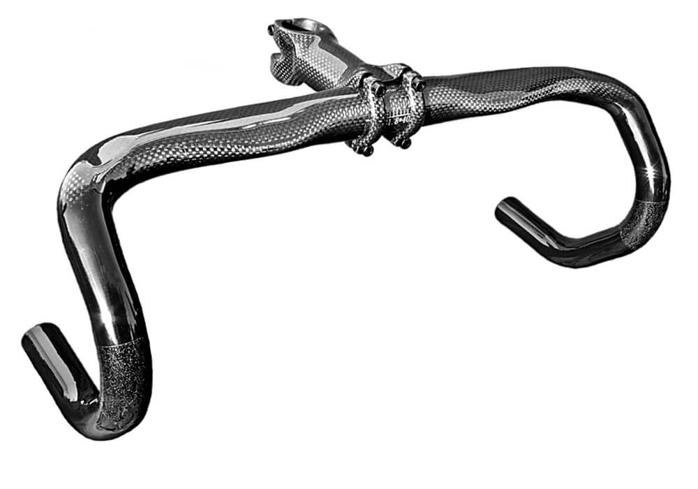 Feathery Carbon Road Handlebar - Classic RB1 440 x 31,8 mm 205g