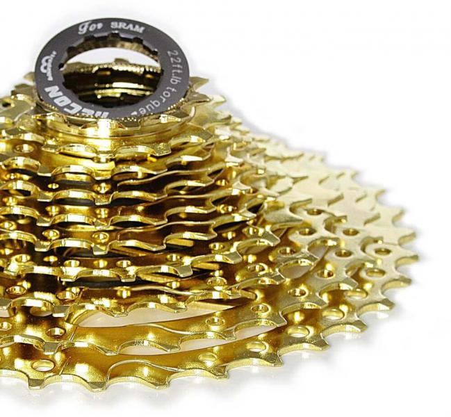 11-36 Cassette - 9 Speed for Shimano, Sram gold star.