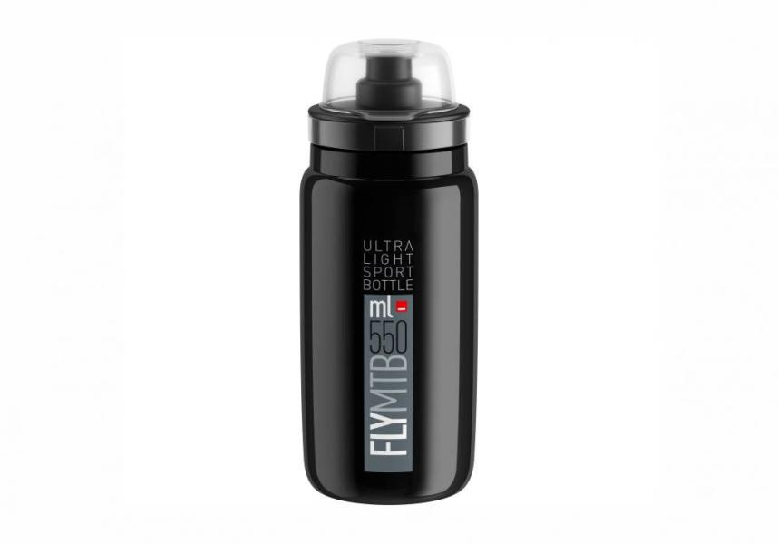Elite® Fly MTB 2020 Trinkflasche (0,55l) black.