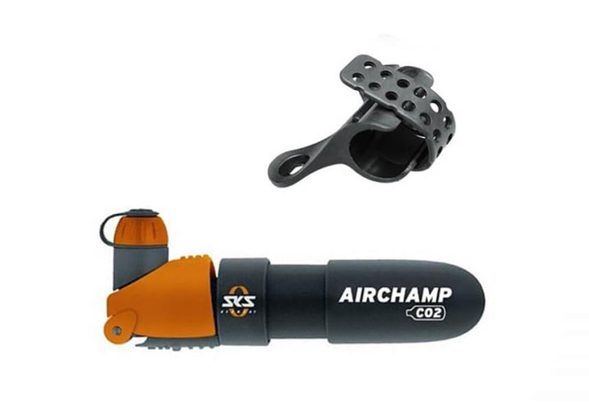 SKS Airbchamp Bicycle Pump - Hand Air Pump with Co2 Cartridge, accessories.