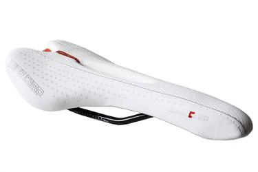 Bicycle Saddle Base Camp white red.