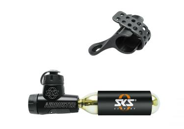 SKS Airbuster Bicycle Pump - Hand Air Pump with Co2 Cartridge, accessories.