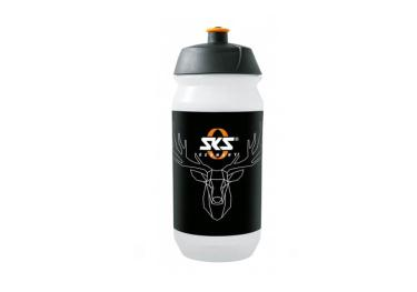 SKS drink, water bottle deer (0,5l) clear black.