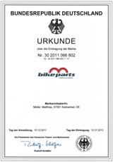 eingetragene Marke der Firma m-bikeparts